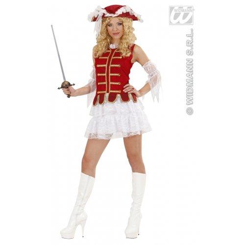 Ladies Musketeer Girl (dress Sleeves) Costume Medium Uk 10-12 For Medieval