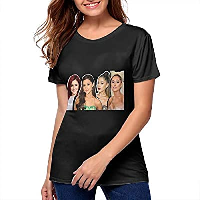 DeniseJPeterson Ariana Grande Women Tops Shirt Cotton Comfortable Young Girl T Shirt