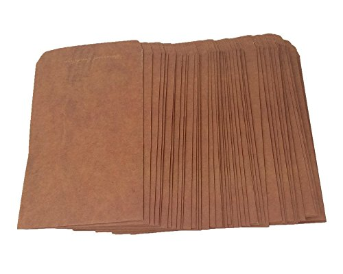 Honbay 50pcs Retro Style Brown Kraft Paper Envelops Postcard Invitation Letter Stationery Paper Bag Vintage Air Mail Gift Envelope (Airmail Postcard)