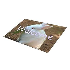 KanKan Monogrammed Door Mat Bunny One size