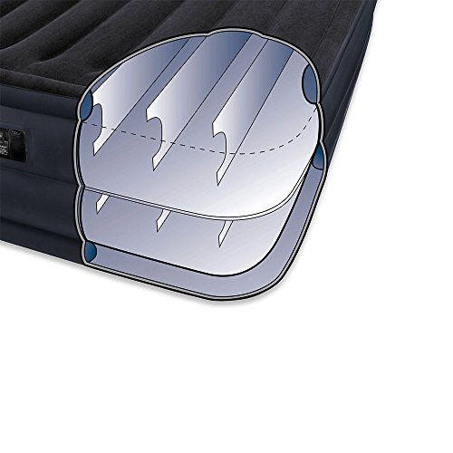 Intex Raised Downy Airbed with Built-in Electric Pump, Queen, Bed Height 22″