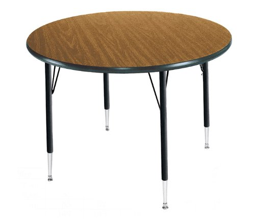 Correll A48-RND-06 Round Medium Oak Top Activity Table by Correll