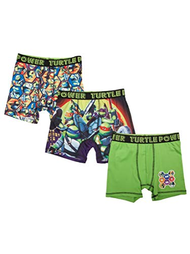 Action Underwear Boys Boxer Briefs 3 Pack (Ninja Turtles, ()