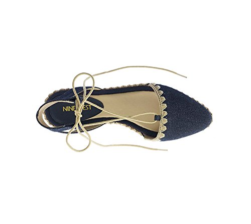 Denim Leather Unah Toe Nine Women's Flat West Pointed xaq11f7Sn