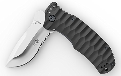 Off Grid Knives   Og219 Rapid Fire Assisted Flipper Knife  Japanese Aus8 Blade With G10 Handle