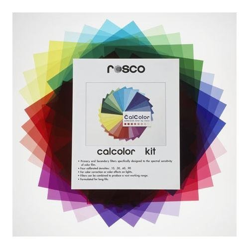 Rosco Calcolor Kit (Thirty Three 10'' X 12'' CalColor Filter Sheets) by Rosco