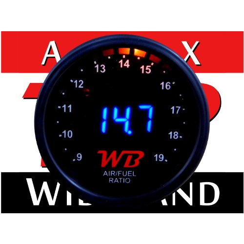 WB D2 Wideband O2 Air Fuel Ratio Controller All-in-One Gauge (BLUE)