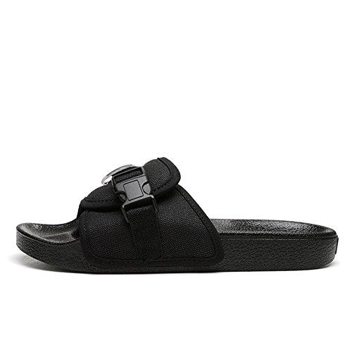 Insun Unisex Erwachsene Hausschuhe Flache Pantoffeln Komfort Sandalen Schwarz