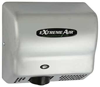 Impact 4064C eXtremeAir High Speed Energy Efficient Hand Dryer, 120V Voltage, 1500 Watt, 135 degree F, Satin Chrome