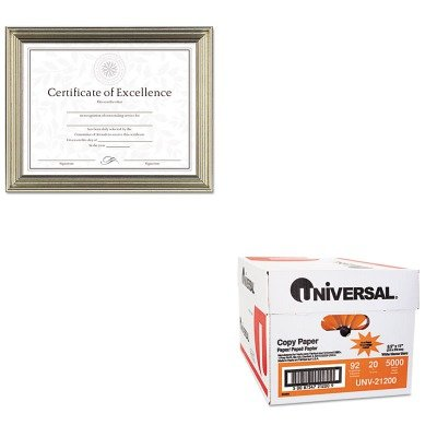 KITDAXN1818N2TUNV21200 - Value Kit - DAX MANUFACTURING INC. Antique Colored Document Frame w/Certificate (DAXN1818N2T) and Universal Copy Paper (UNV21200)
