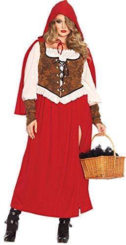 Woodland Plus Size Costumes (UHC Women's Woodland Red Riding Hood Fairytale Storybook Theme Fancy Costume, S (4-6))