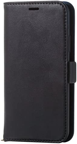 エレコム iPhone X ケース カバー 手帳型 レザー サイドマグネット スタンド機能付き ICカード ブラック PM-A1