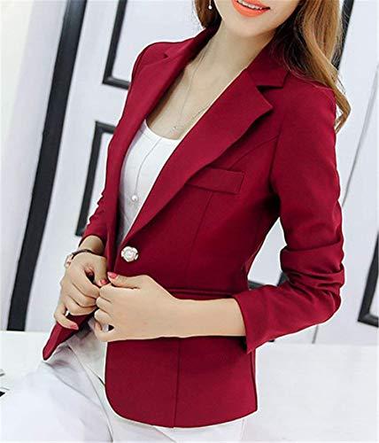 Tailleur Solidi Rot Classiche Casual Donna Business Blazer Cappotto Ufficio Guaina Tuta Corto Eleganti Semplice Bavero Da Fashion Giacca Lunga Colori Sottile Glamorous Manica p88BXqx