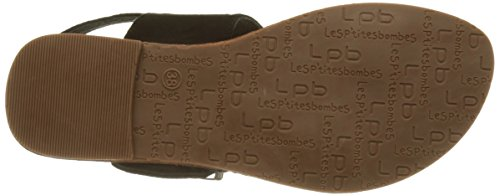 Les P'tites Bombes 3-pervenche Ethnic*12 Pervenche - Zapatos Mujer Noir (Noir)