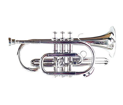 MAHA LAKSHMI Cornet, Bb, NICKEL Silver Color With Mouthpiece And Hard Case