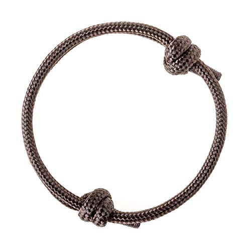 Wind Passion Nautical Braided Brown Mono Rope Cord Men Bracelet (Mens Braided Bracelet Brown)