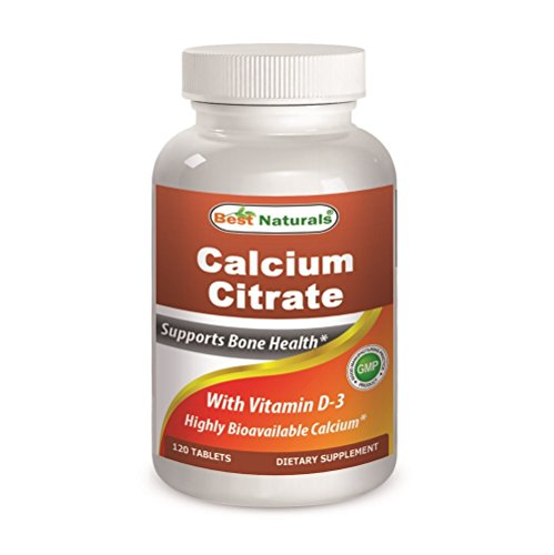 Best Naturals Calcium Citrate with Vitamin D-3 120 Tablets