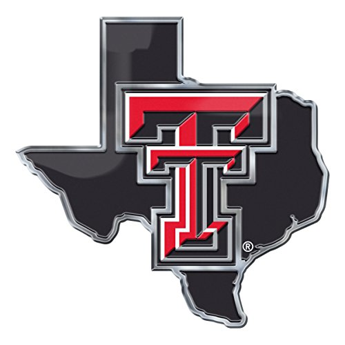 Team ProMark NCAA Texas Tech Red Raiders Texas State Automobile Emblem, 3.75