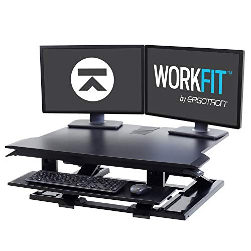 Ergotron - WorkFit-TX Standing Desk Converter - for Tabletops - 32 Inches, Black from Ergotron