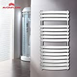 MEI 1000x500 Electric Wall Heaters, Bathroom Heaters, Wall Mounted Heaters With Chrome