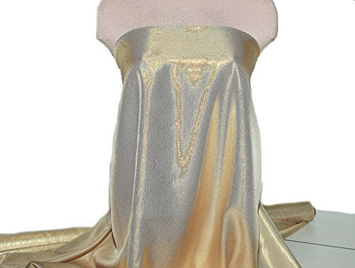 Cousin It Costume Yarn (Silk Chiffon Lame Fabric 08-Gold-White)