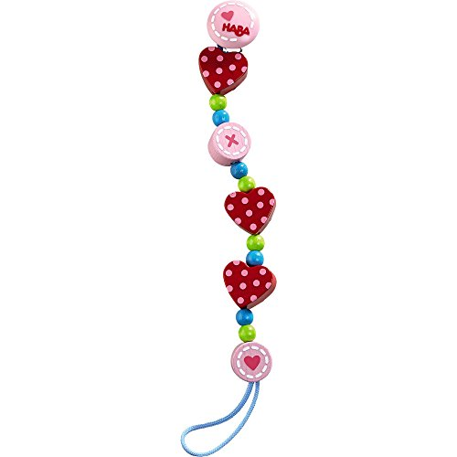 HABA Wooden Pacifier Chain Heart to Heart (Made in Germany)