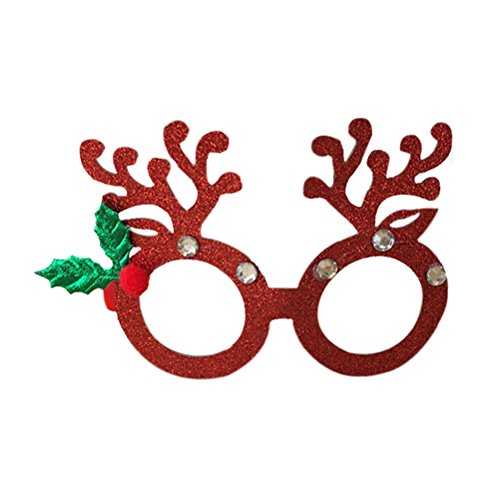 Christmas Glasses ROSENICE Fancy Dress Glasses Party Favours Photo Booth Props - Eyeglasses Christmas