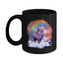 TeeCentury Rainbow Llama Cat Mug 11oz