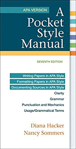 amazon com a pocket style manual apa version 8601422246469 rh amazon com ap style guide amazon APA Style Template Word 2010