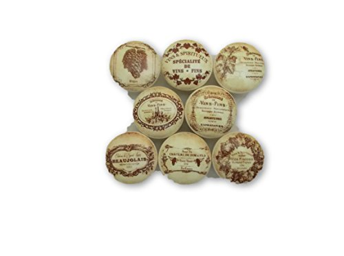 Set of 8 French Vineyard Wine Label Cabinet Knobs (1.5