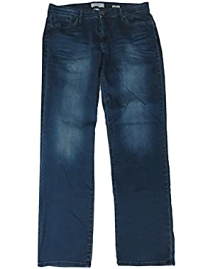 Calvin Klein Women's Green Tomatoes Straight Jeans, Size 12-32, Blue Denim