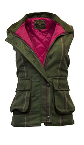 - Walker and Hawkes Women's Derby Tweed Shooting Waistcoat Country Gilet Pink Stripe US 6 (UK 10)