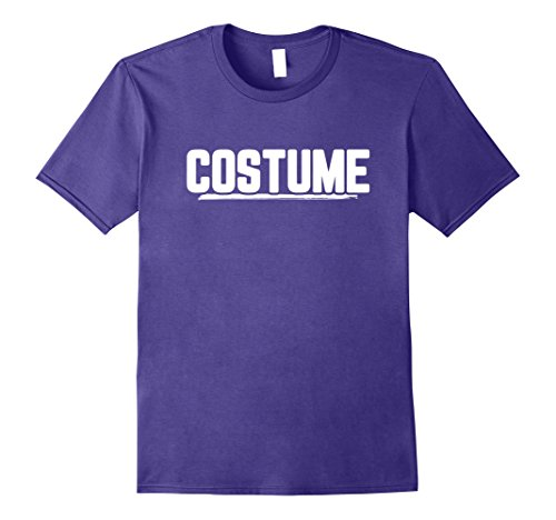 Mens Halloween T-Shirt That Says Costume Easiest Last Min Tee Medium Purple