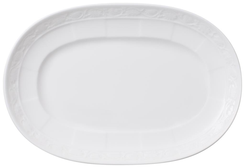 Villeroy and Boch White Pearl Pickle Dish 22cm