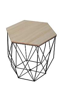 Homemania Tavolino da Caffè Ermes, Per Salotto, Soggiorno, Ufficio-Tavolo D'Appoggio, Comodino, Marrone, 39 x 41.5 x 45 cm