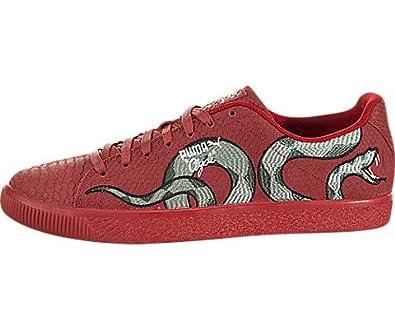 bcc6e2f3f5ee Amazon.com  PUMA Clyde Snake Embroidery  Shoes