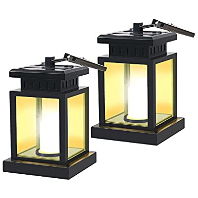 GVSHINE 2 Pack LED Solar Mission Lantern, Vintage Solar Powered Waterproof Hanging Umbrella Lantern Candle Lights Led with Clamp Beach Umbrella Tree Pavilion Garden Yard Lawn Etc Lighting & Decoration - 💚 Portable & Light Weight Lantern 💚 Portable and light weight with clip, you can change lighting place to yard garden lawn patio umbrella outdoor anywhere you can hang, it can be also the great scenery as night light or desk light. 💚 Energy-Saving & Auto On-OFF 💚 Powered by solar, you just need take this led lantern under direct sunshine 4-6 hours, the included rechargeable battery will storage plenty of energy to light dusk to dawn with Auto on-off. No added electricity fee or battery cost. 💚 Decoration & Lighting Double Function 💚 Bright light with high quality LED, unique vintage lantern look not only for lighting but also always the best decoration, there is always a romantic atmosphere under your umbrella or in tent, or a quiet and sweet home to welcome you back. - patio, outdoor-lights, outdoor-decor - 416TMPf9dKL. SS400  -
