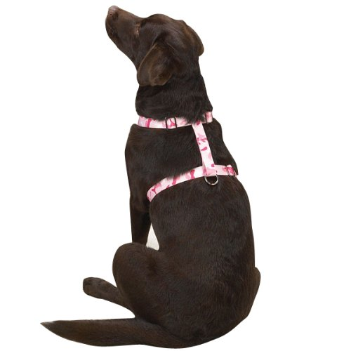 Guardian Gear Nylon Camo Dog Harness, 14-20-Inch, Pink (75 Guardian Gear Camo)