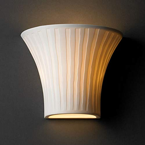 Justice Design Group POR-8810 Small Round Flared Wall Sconce from the Limoges Co, Waterfall