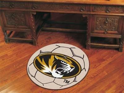 """Fan Mats Missouri Soccer Ball Rug, 29"""" Dia."""
