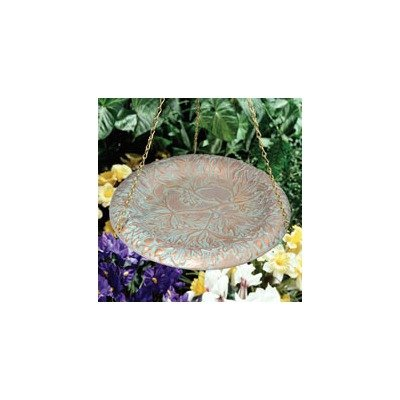 Whitehall Products Oakleaf Hanging Birdbath, Oil Rub Bronze