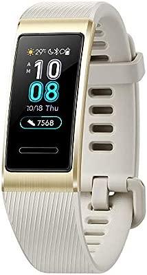 Gooplayer.Huawei Band 3 Pro Smartband GPS Marco de Metal Amoled Pantalla a Todo Color Pantalla táctil Carrera de natación Sensor de frecuencia ...