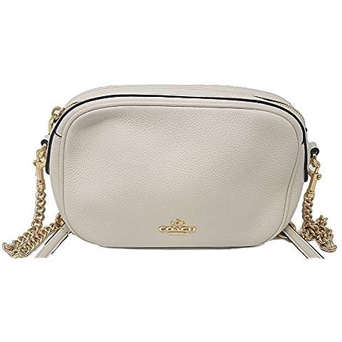53591e28827a Coach Womens Handbag Pebbled Leather Isla Crossbody Bag With Chain ...