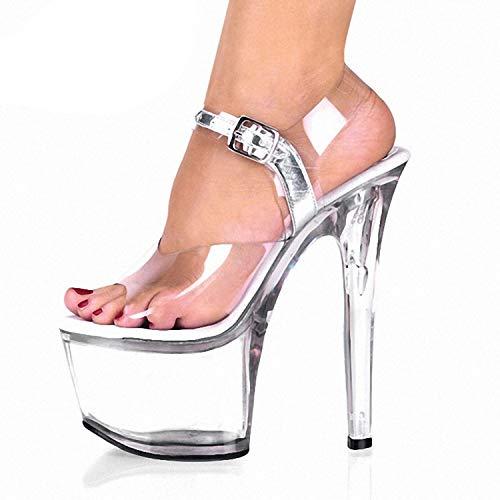 Scarpe Donna Sandali Da sexy Cristallo Trasparente Alto Estivi Notte Tacco Super Di xfwxC0