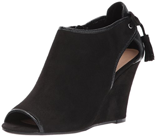 Picture of CL by Chinese Laundry Women's Brinley Wedge Pump, Black Suede-Snake, 6 M US