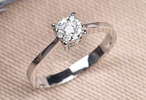 0.17 Carat Diamond Wedding Band, Diamond Wedding Ring, Diamond Engagement Band, Diamond Engagement Ring, Solitaire Diamond Ring, Gold Ring ()