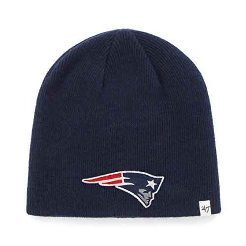 NFL New England Patriots Youth Beanie Knit Hat, One Size, Light Navy