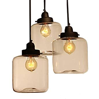 VivrealR Ceiling Lighting Pendant 3 Lamp Lights Fixture Living Dining Room Vintage Classic