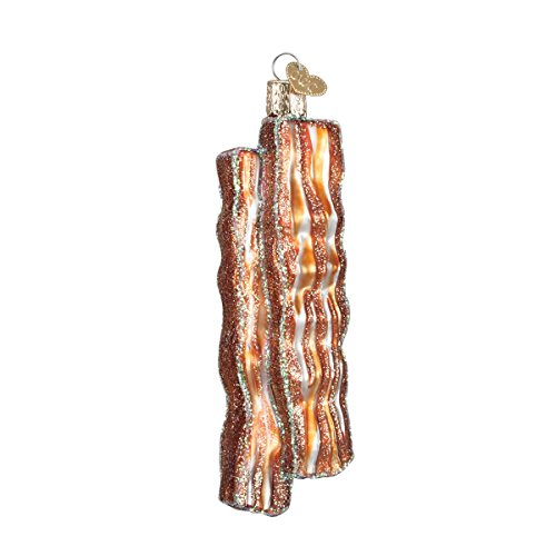 (Old World Christmas Ornaments: Bacon Strips Glass Blown Ornaments for Christmas Tree)