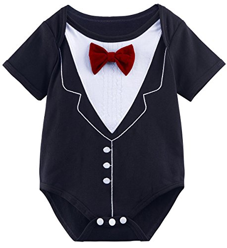 A&J DESIGN Baby Infant Boys' Gentleman Bodysuit (12-18 Months, ()